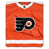 "Philadelphia Flyers NHL ""Jersey"" Raschel Throw"