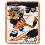 "Philadelphia Flyers NHL ""Score Baby""Baby Woven Jacquard Throw"