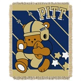 "Pittsburgh  Panthers NCAA ""Fullback"" Baby Woven Jacquard Throw"