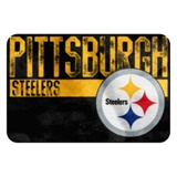 "Pittsburgh Steelers NFL ""Worn Out"" Bath Mat"