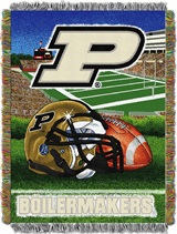 "Purdue Boilermakers NCAA ""Home Field Advantage"" Woven Tapestry Throw"