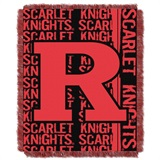 "Rutgers Scarlet Knights NCAA ""Double Play"" Woven Jacquard Throw"