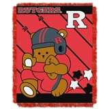 "Rutgers  Scarlet Knights NCAA ""Fullback"" Baby Woven Jacquard Throw"