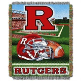 "Rutgers Scarlet Knights NCAA ""Home Field Advantage"" Woven Tapestry Thr"