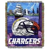 "Los Angeles Chargers NFL ""Home Field Advantage"" Woven Tapestry Throw"