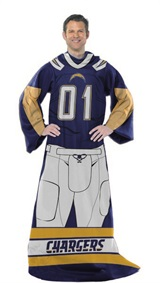 "Los Angeles Chargers NFL ""Uniform"" Adult Comfy Throw"