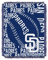 "San Diego Padres MLB ""Double Play"" Woven Jacquard Throw"