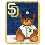 "San Diego Padres MLB ""Field Bear"" Baby Woven Jacquard Throw"