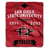 "San Diego State ""Label"" Raschel Throw"