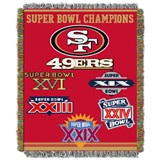 "San Francisco 49ers NFL ""Commemorative"" Woven Tapestry Throw"