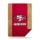 "San Francisco 49ers NFL ""Denali"" Sliver Knit Throw"