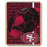 "San Francisco 49ers NFL ""Double Play"" Woven Jaquard Throw"