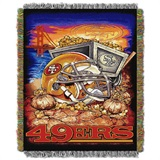 "San Francisco 49ers NFL ""Home Field Advantage"" Woven Tapestry Throw"