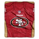 "San Francisco 49ers NFL ""Jersey"" Raschel Throw"