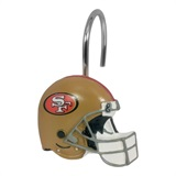 San Francisco 49ers NFL  Shower Curtain Rings