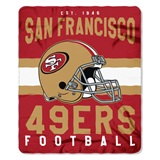 "San Francisco 49ers NFL ""Singular"" Fleece Throw"