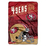 "San Francisco 49ers NFL ""Stagger"" Micro Raschel Throw"