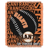 "San Francisco Giants MLB ""Double Play"" Woven Jacquard Throw"