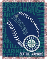 "Seattle Mariners MLB ""Double Play"" Woven Jacquard Throw"