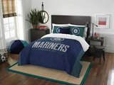 "Seattle Mariners MLB ""Grand Slam"" FullQueen Comforter Set"