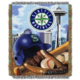 "Seattle Mariners MLB ""Home Field Advantage"" Woven Tapestry Throw"