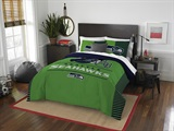 "Seattle Seahawks NFL ""Draft"" Full/Queen Comforter Set"