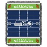 "Seattle Seahawks NFL ""Field"" Baby Woven Jacquard Throw"