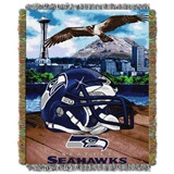 "Seattle Seahawks NFL ""Home Field Advantage"" Woven Tapestry Throw"