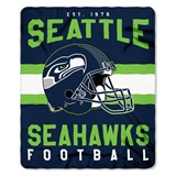 "Seattle Seahawks NFL ""Singular"" Fleece Throw"
