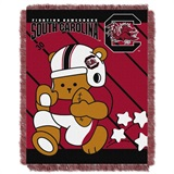 "South Carolina  Gamecocks NCAA ""Fullback"" Baby Woven Jacquard Throw"