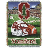 "Stanford Cardinals NCAA ""Home Field Advantage"" Woven Tapestry Throw"