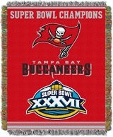 "Tampa Bay Buccaneers NFL ""Commemorative"" Woven Tapestry Throw"