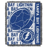 "Tampa Bay Lightning NHL ""Double Play"" Woven Jacquard Throw"