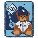 "Tampa Bay Rays MLB ""Field Bear"" Baby Woven Jacquard Throw"