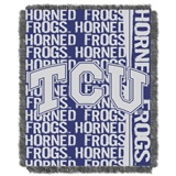 "TCU  Frogs NCAA ""Double Play"" Woven Jacquard Throw"