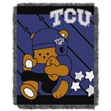 "TCU  Horned Frogs NCAA ""Fullback"" Baby Woven Jacquard Throw"