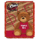 "Temple  Owls NCAA ""Fullback"" Baby Woven Jacquard Throw"