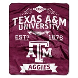 "Texas A&M ""Label"" Raschel Throw"