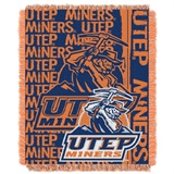 "Texas El Paso  Miners NCAA ""Double Play"" Woven Jacquard Throw"
