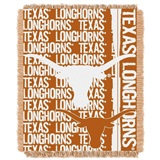 "Texas Longhorns NCAA ""Double Play"" Woven Jacquard Throw"