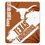 "Texas Longhorns NCAA ""Painted"" Fleece Throw"