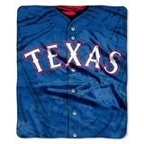 "Texas Rangers MLB ""Jersey"" Raschel Throw"