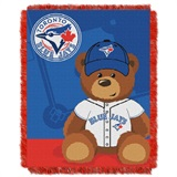 "Toronto Blue Jays MLB ""Field Bear"" Baby Woven Jacquard Throw"