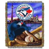"Toronto Blue Jays MLB ""Home Field Advantage"" Woven Tapestry Throw"