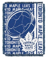 "Toronto Maple Leafs NHL ""Double Play"" Woven Jacquard Throw"