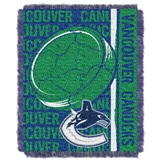 "Vancouver Canucks NHL ""Double Play"" Woven Jacquard Throw"