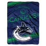 "Vancouver Canucks NHL ""Stamp"" Raschel Throw"