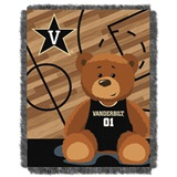 "Vanderbilt  Commodores NCAA ""Fullback"" Baby Woven Jacquard Throw"