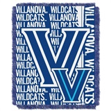 "Villanova Wildcats NCAA ""Double Play"" Woven Jacquard Throw"