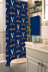 Virginia Cavaliers NCAA Shower Curtain